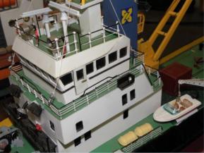 versorgungsschiffe im modell